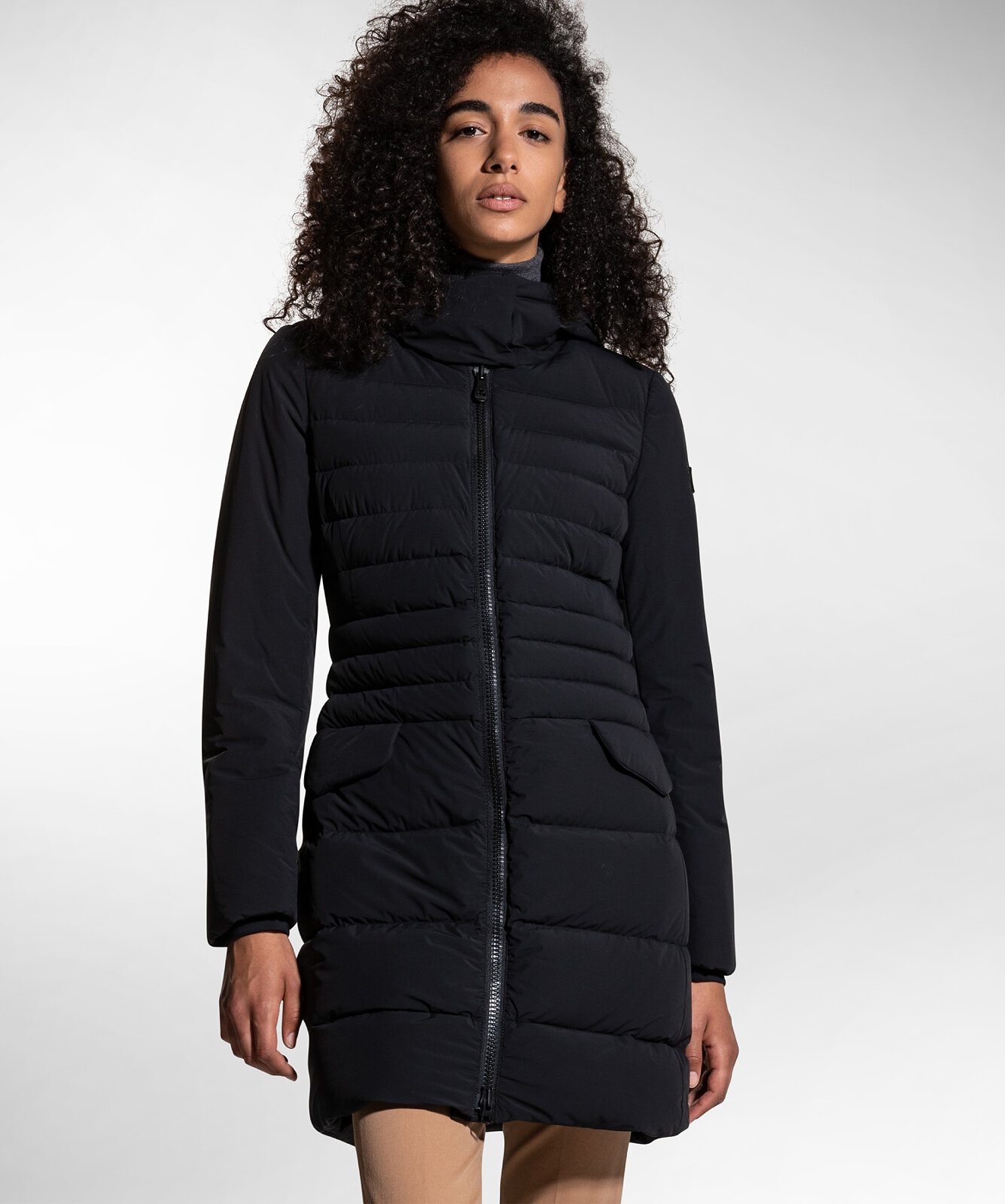 Long Bi-Stretch and Down Proof Down Jacket - Peuterey