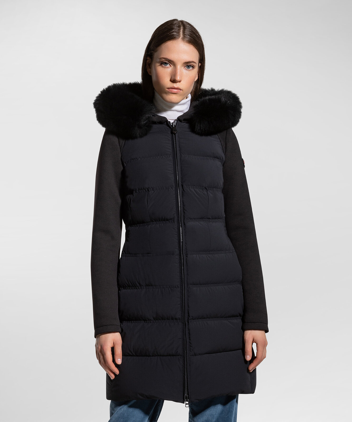 Long Down Jacket In Double Fabric - Peuterey