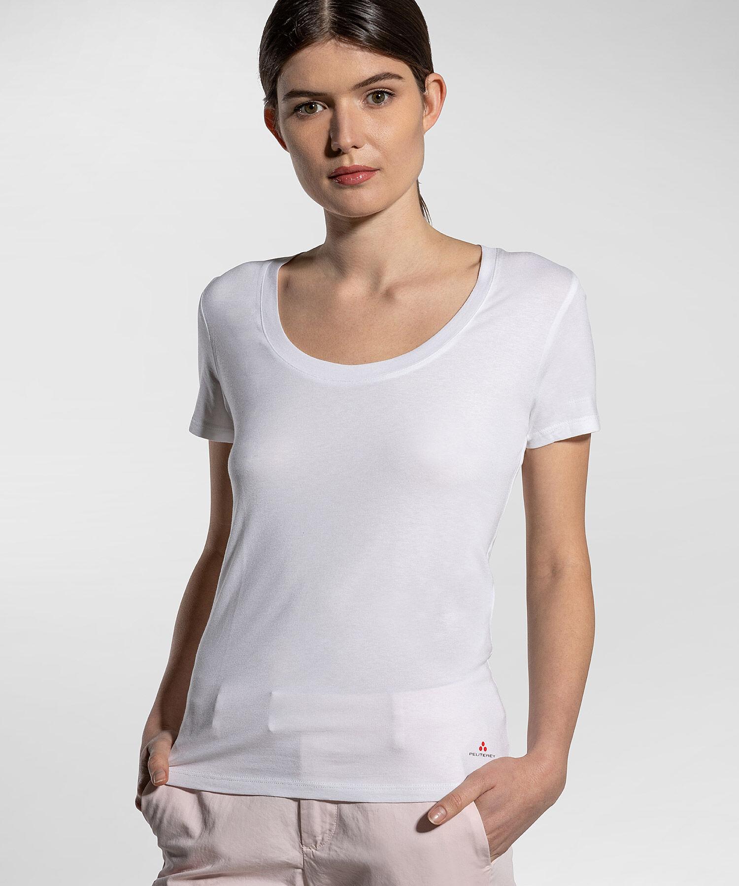 T-Shirt In Jersey Elasticizzato - Peuterey
