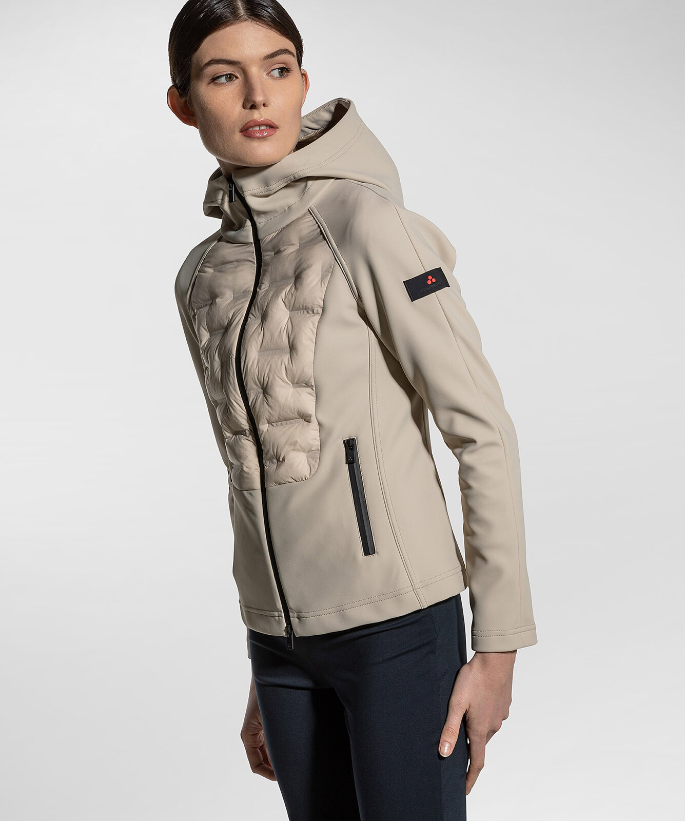 Double Fabric Hooded Bomber Jacket - Peuterey