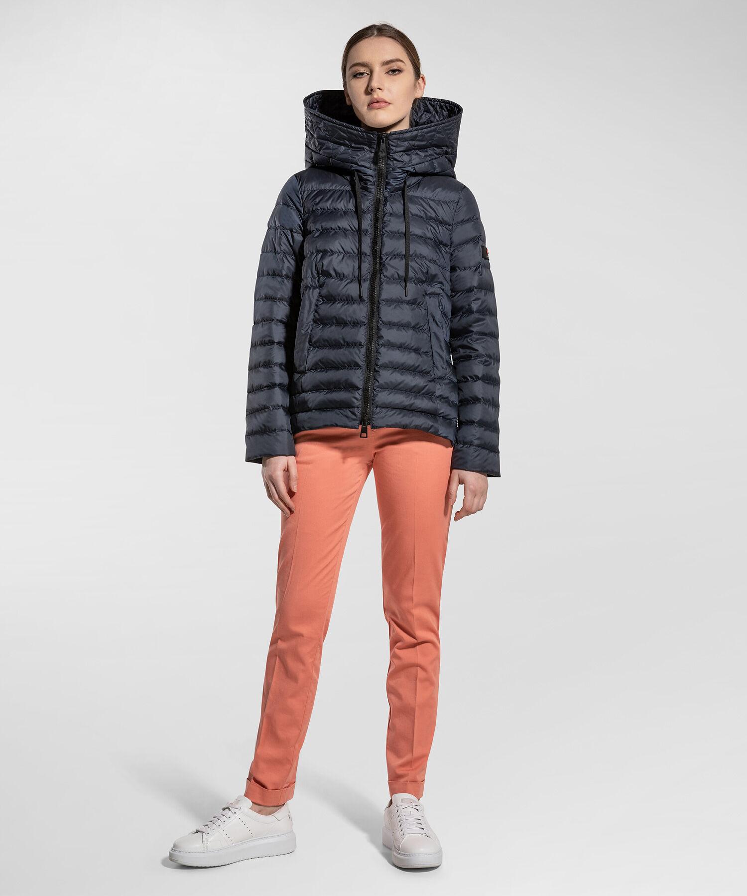 Piumino Regular Con Zip In Contrasto Colore - Peuterey