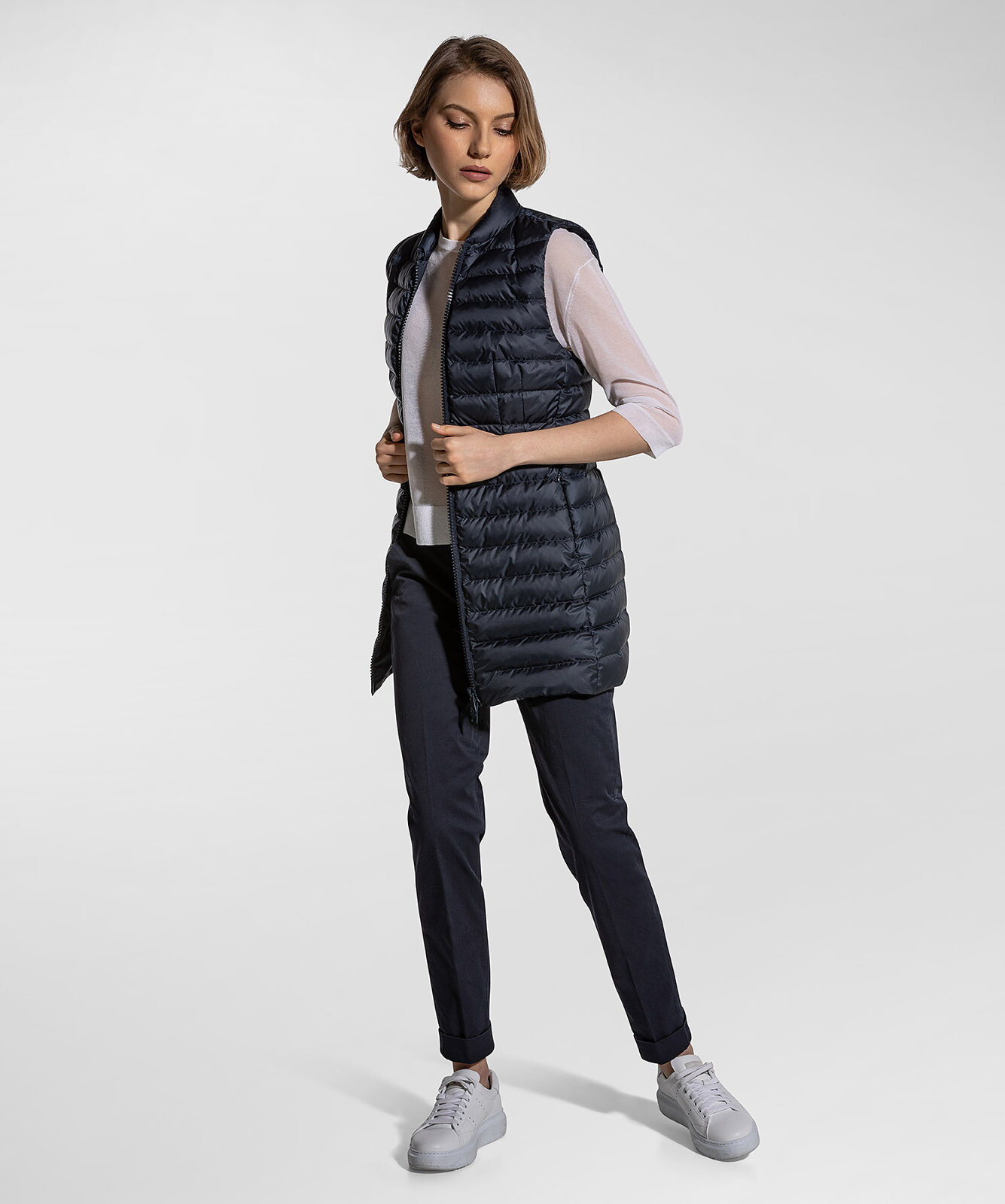 Long And Fitted Vest - Peuterey