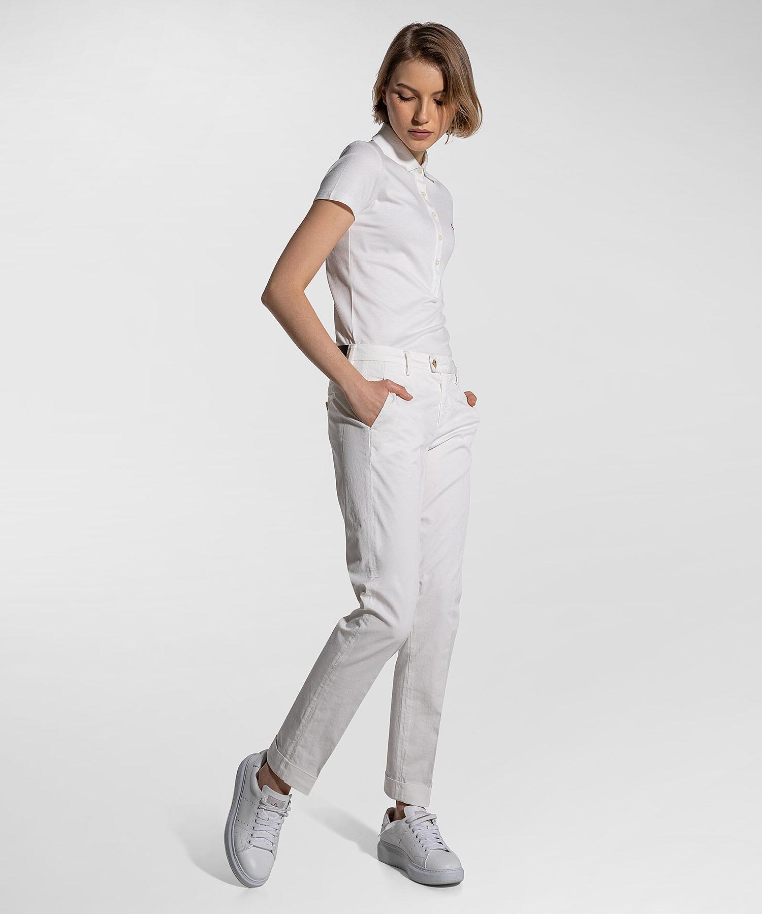Pantaloni In Gabardine Di Cotone Stretch - Peuterey