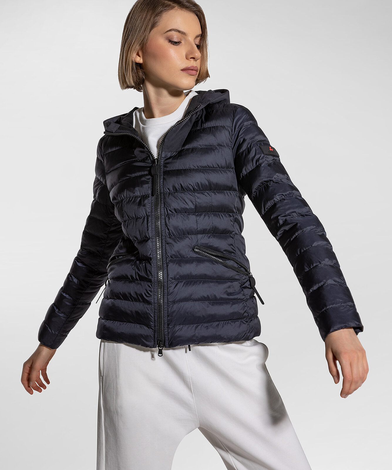 Slim Down Jacket In Double Fabric - Peuterey