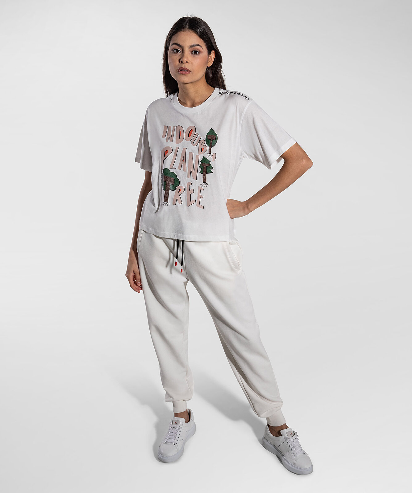 T-Shirt Con Stampa Plant - Peuterey