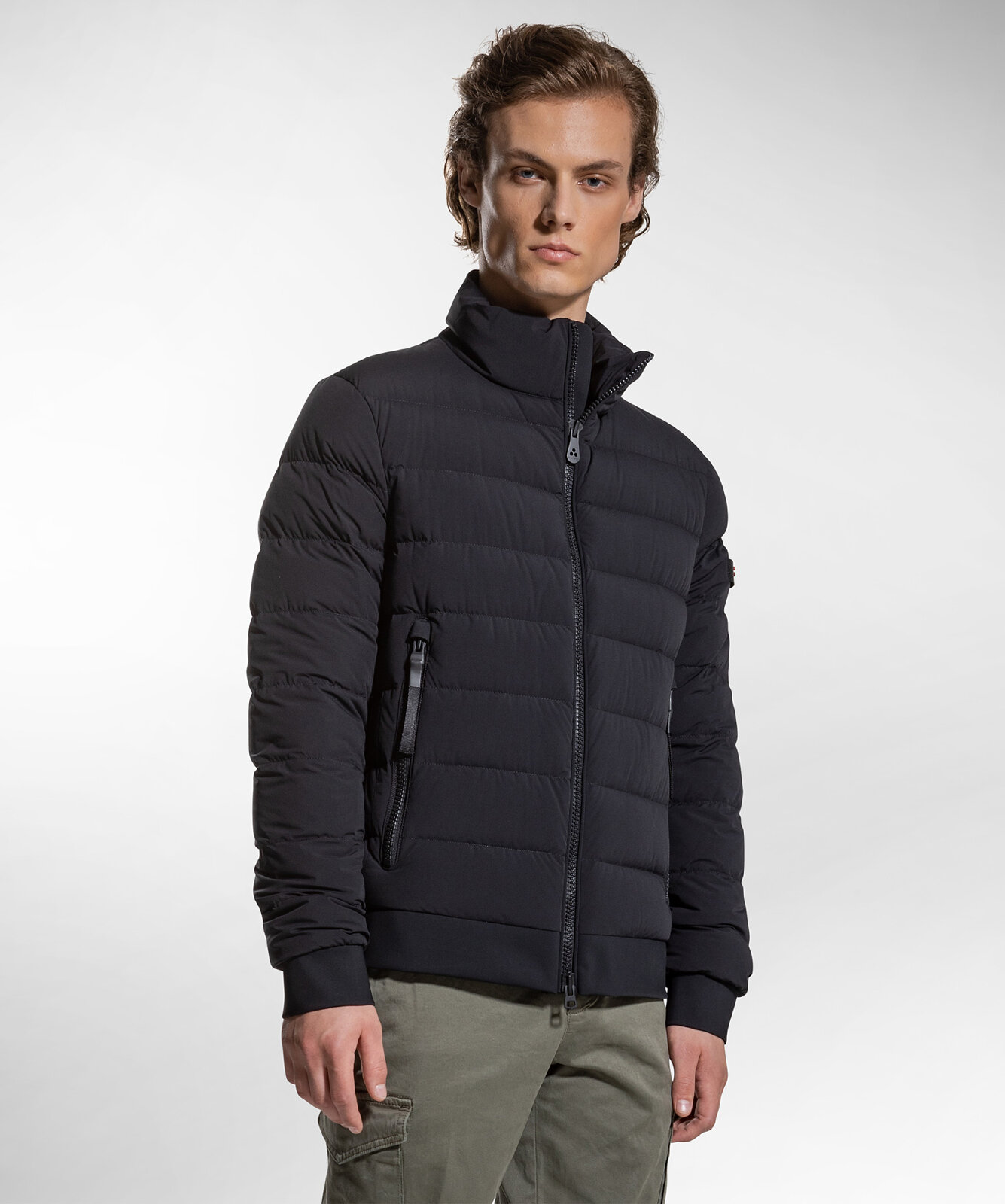 Down Jacket In Nylon and Jersey - Peuterey