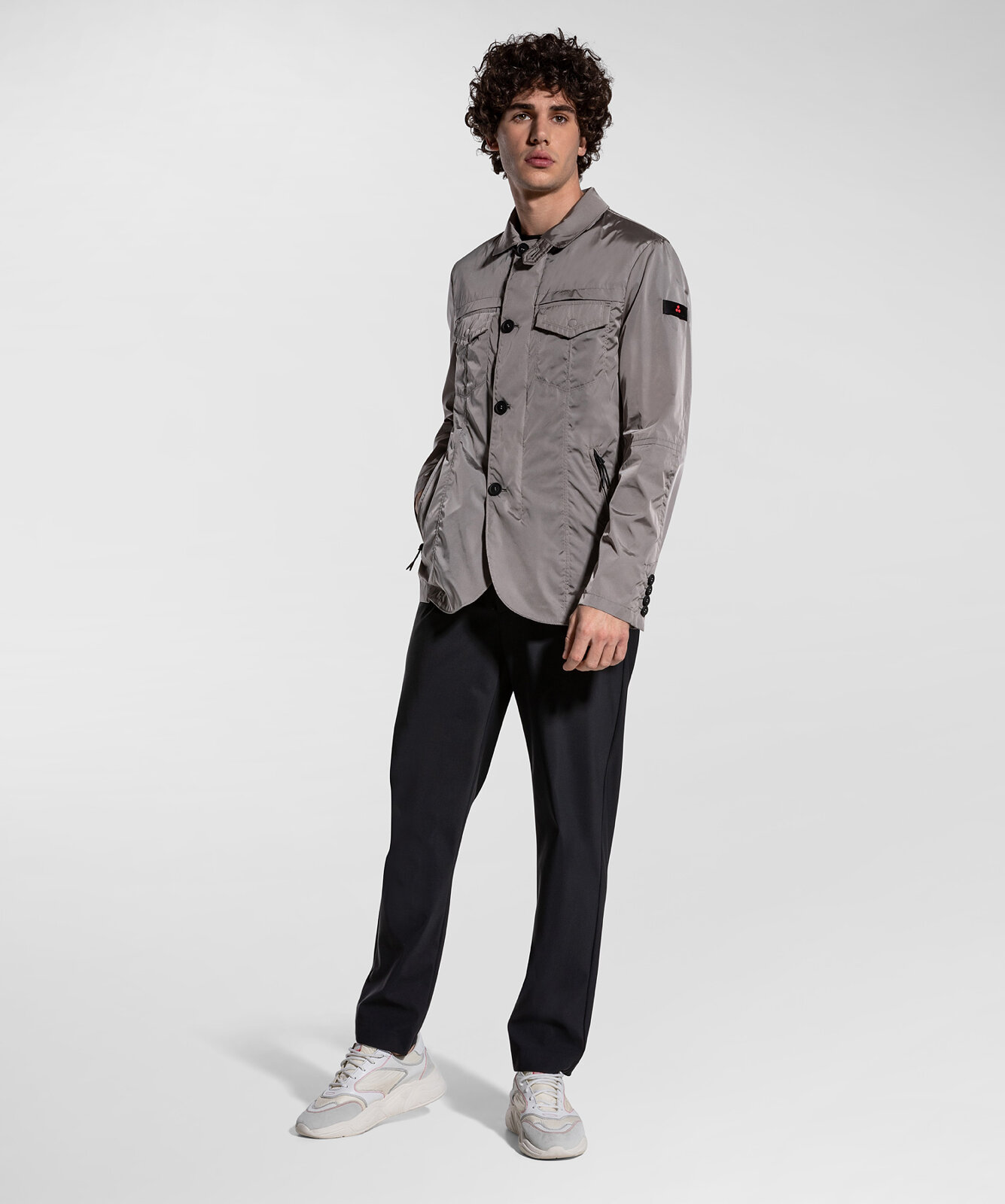 Field Jacket In Nylon Ad Effetto Cangiante - Peuterey