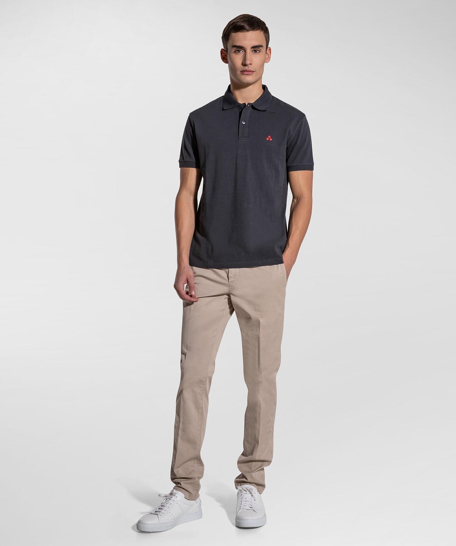 Cotton Piquet Polo Shirt - Peuterey