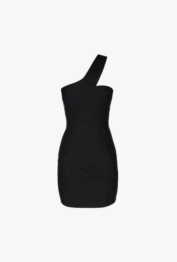 Short Asymmetrical Knitted Dress - Balmain