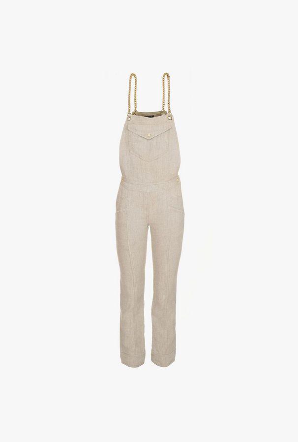 Linen Suit With Chains - Balmain