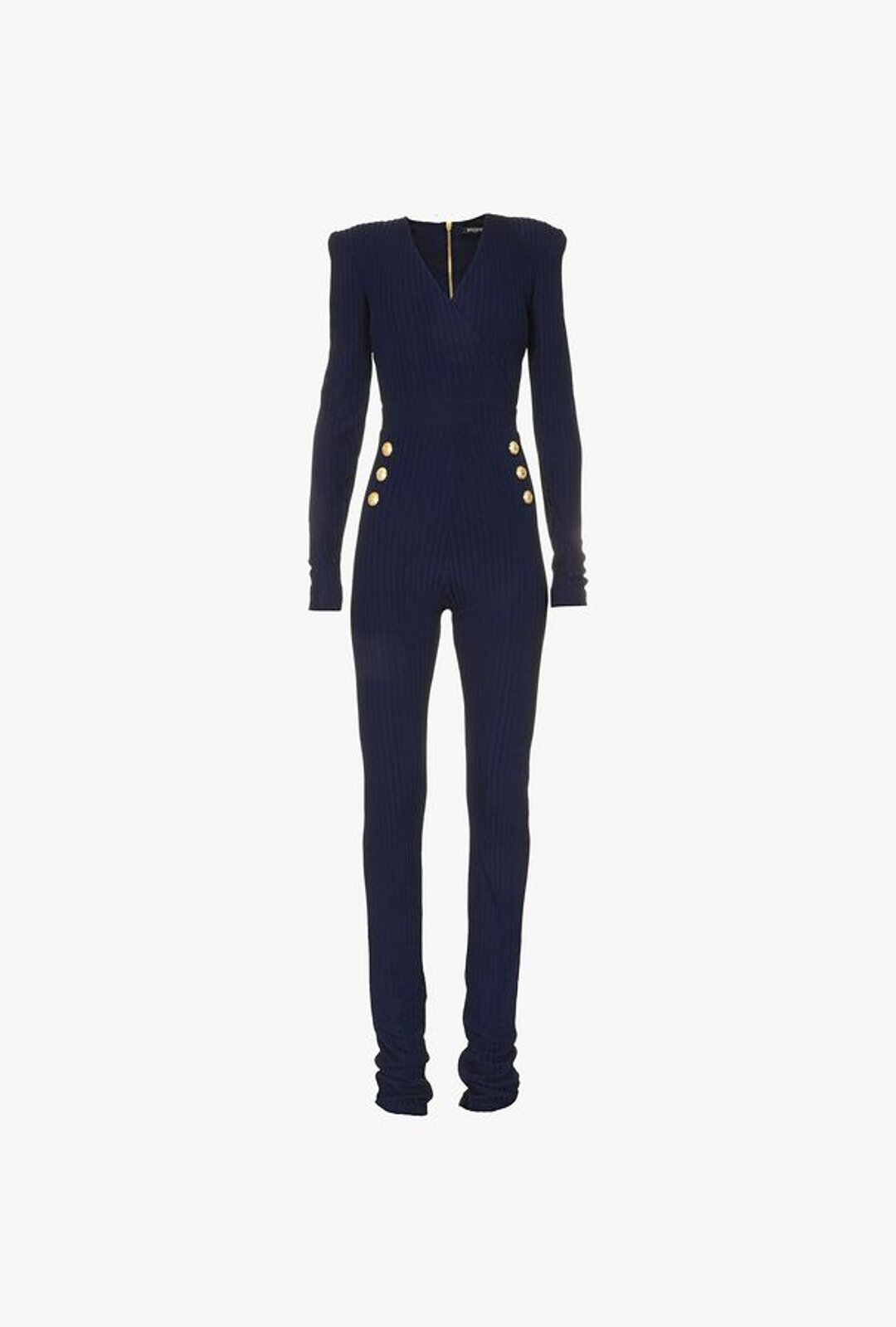 Knitted Jumpsuit With Buttons - Balmain