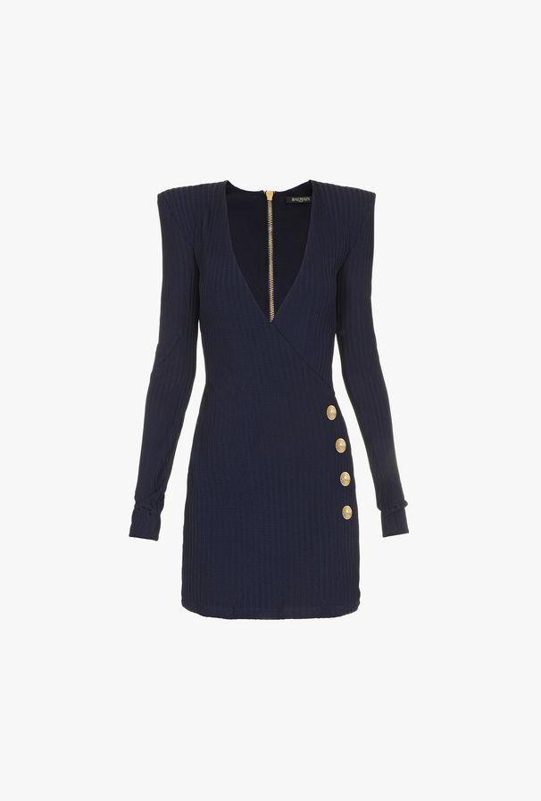 Short Knitted Wallet Dress - Balmain