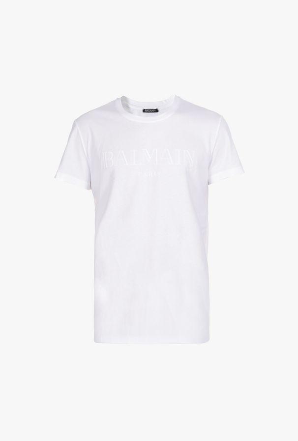 T-Shirt In Cotone Con Logo Balmain - Balmain