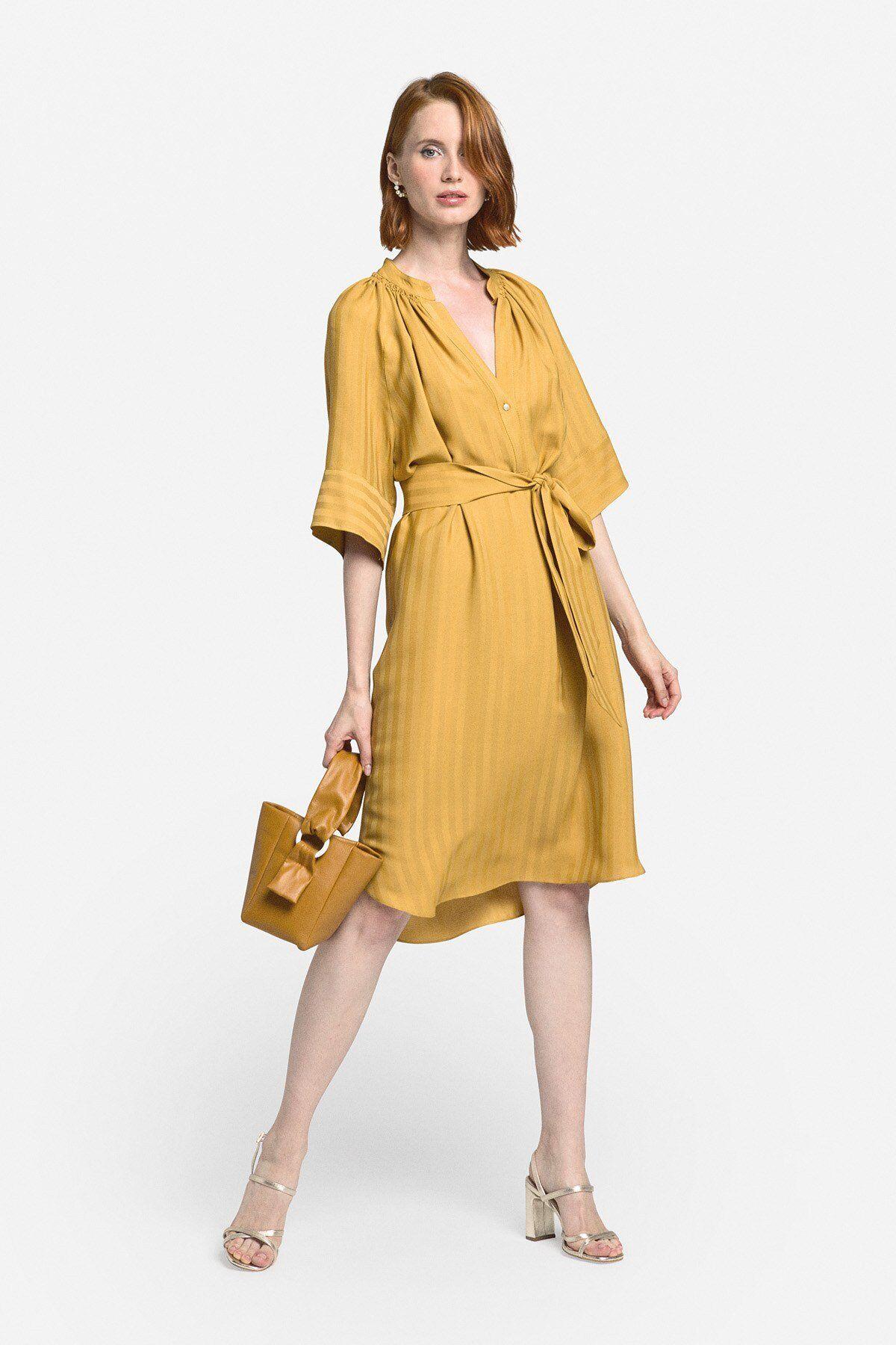 Fluid Mini Dress With Sash - ottod'Ame