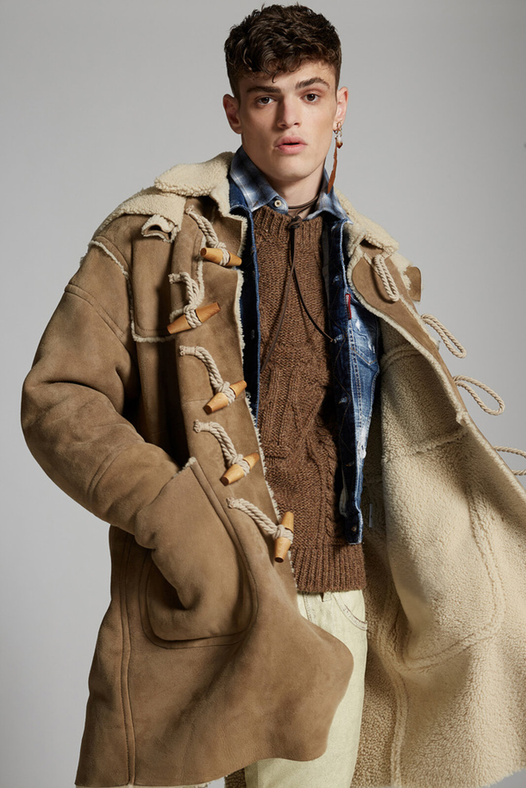 Shearling Montgomery Coat - Dsquared2