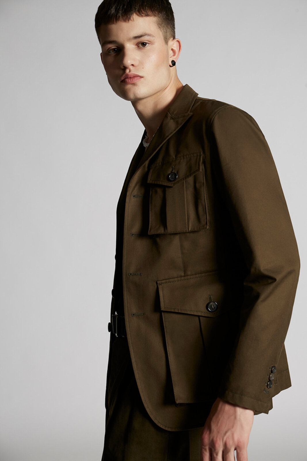 Cotton Twill Military Jacket - Dsquared2