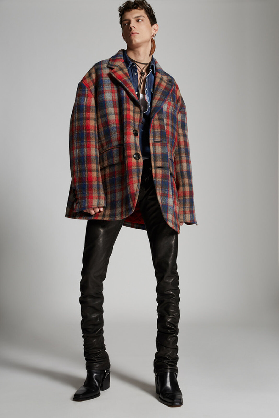 Check Wool Big Blazer - Dsquared2