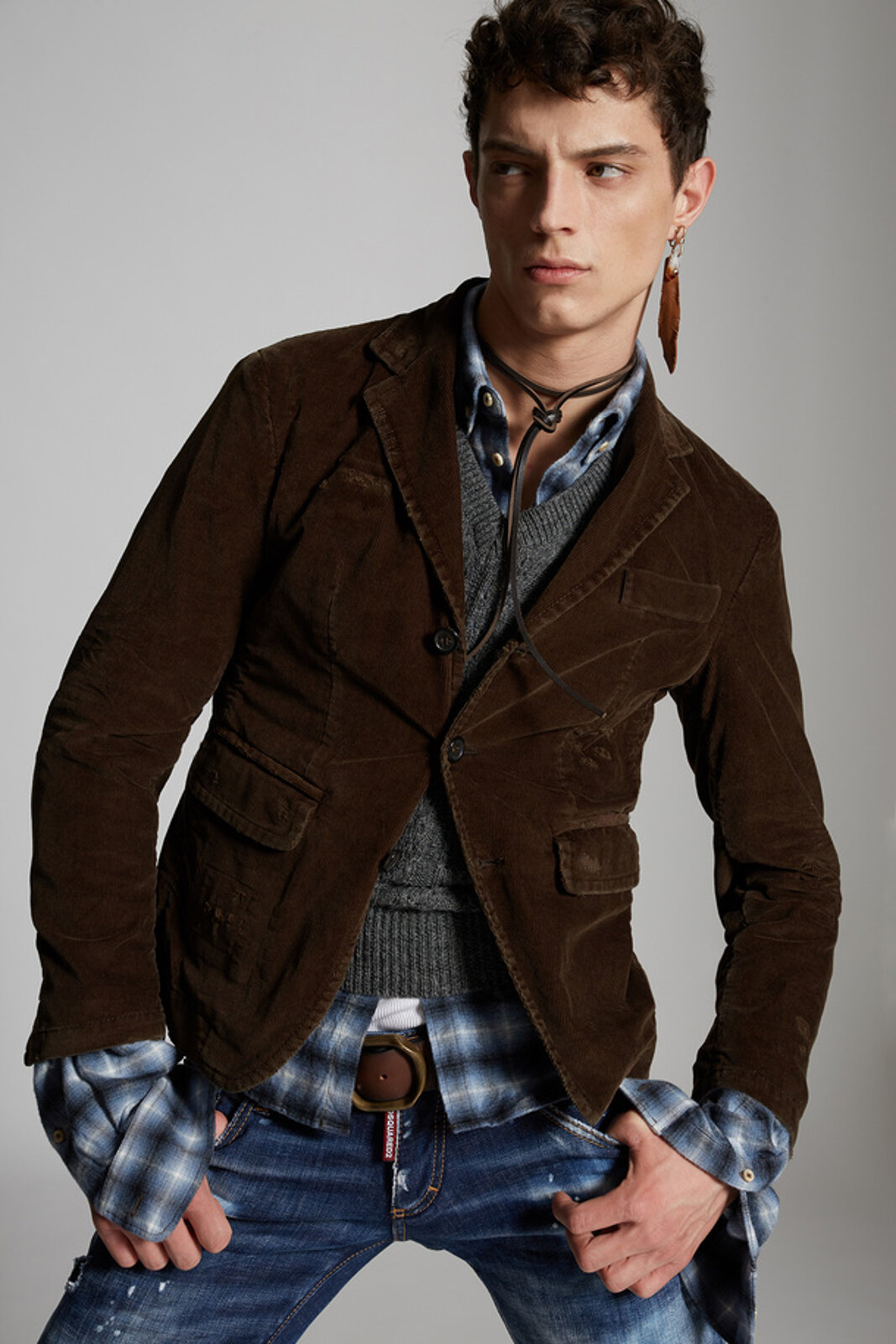 Mini Fit Corduroy Blazer - Dsquared2