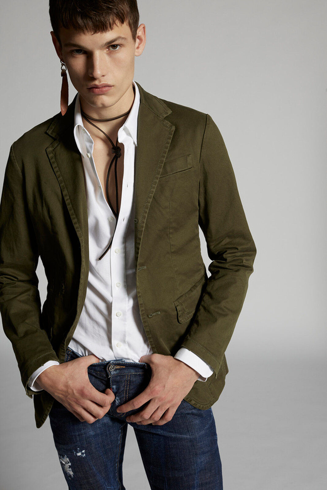 Cotton Twill Unconstructed Blazer - Dsquared2