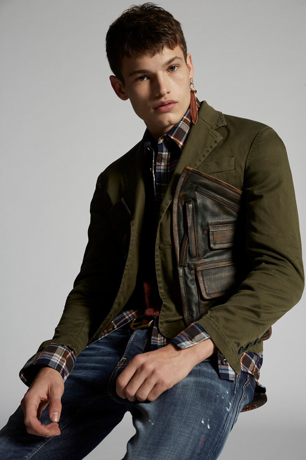 Army Pocket Cotton Blazer - Dsquared2