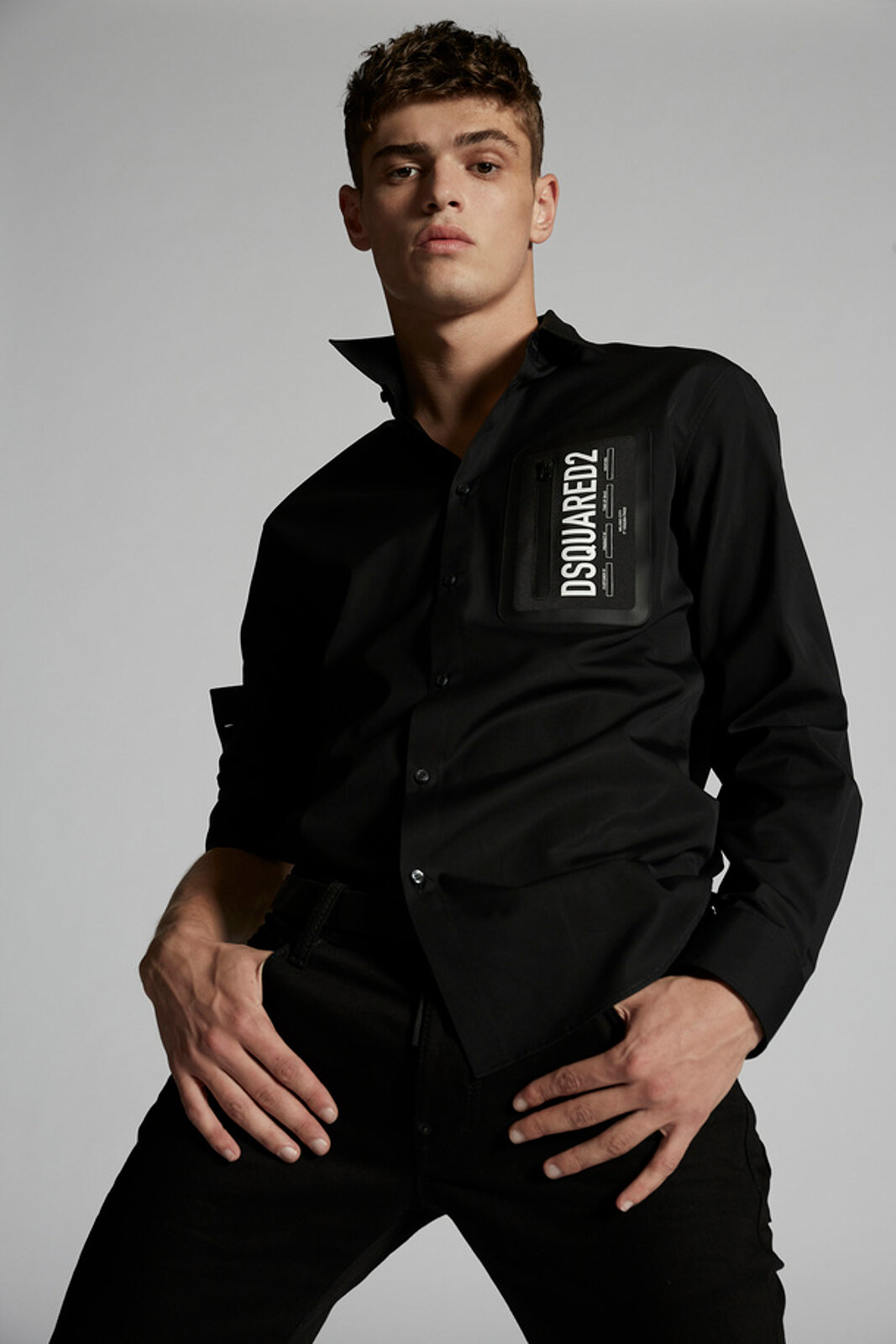 Poplin Zip Pocket Relax Dan Shirt - Dsquared2