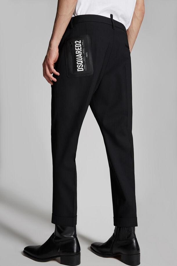 Pantaloni Hockney in lana elasticizzata tropicale - Dsquared2