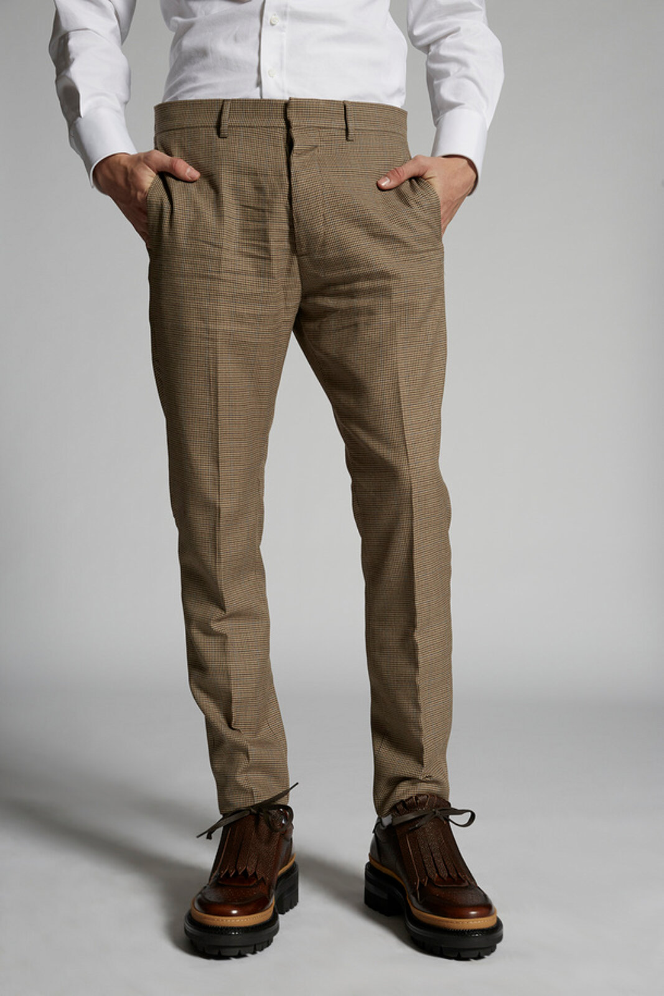 Pantaloni Hockney Micro Check - Dsquared2