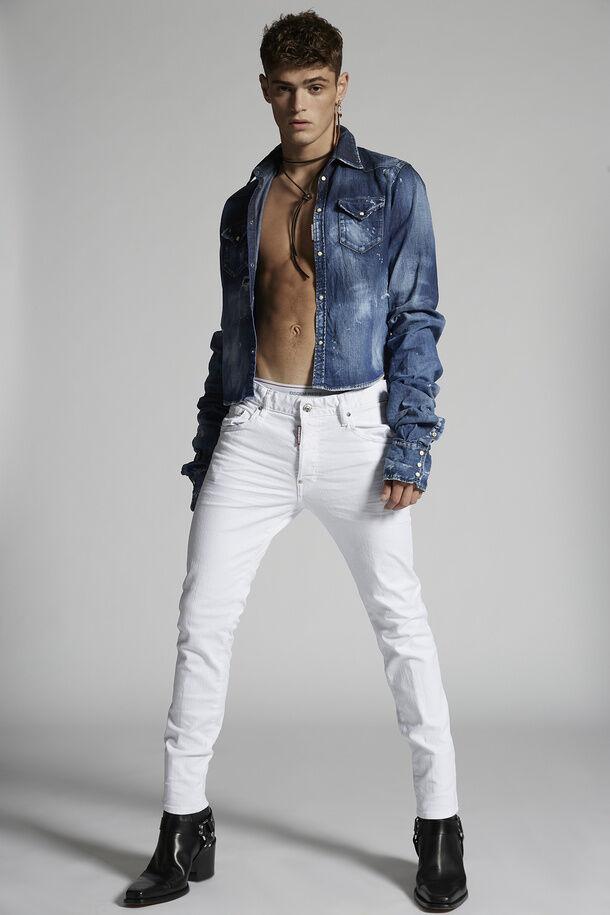 White Bull Wash Skater Jeans - Dsquared2