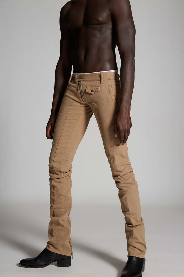 Bull Garment Dyed Sharpei Biker Jeans - Dsquared2