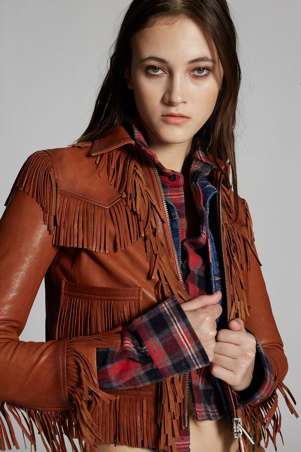 Leather Fringe Jacket - Dsquared2