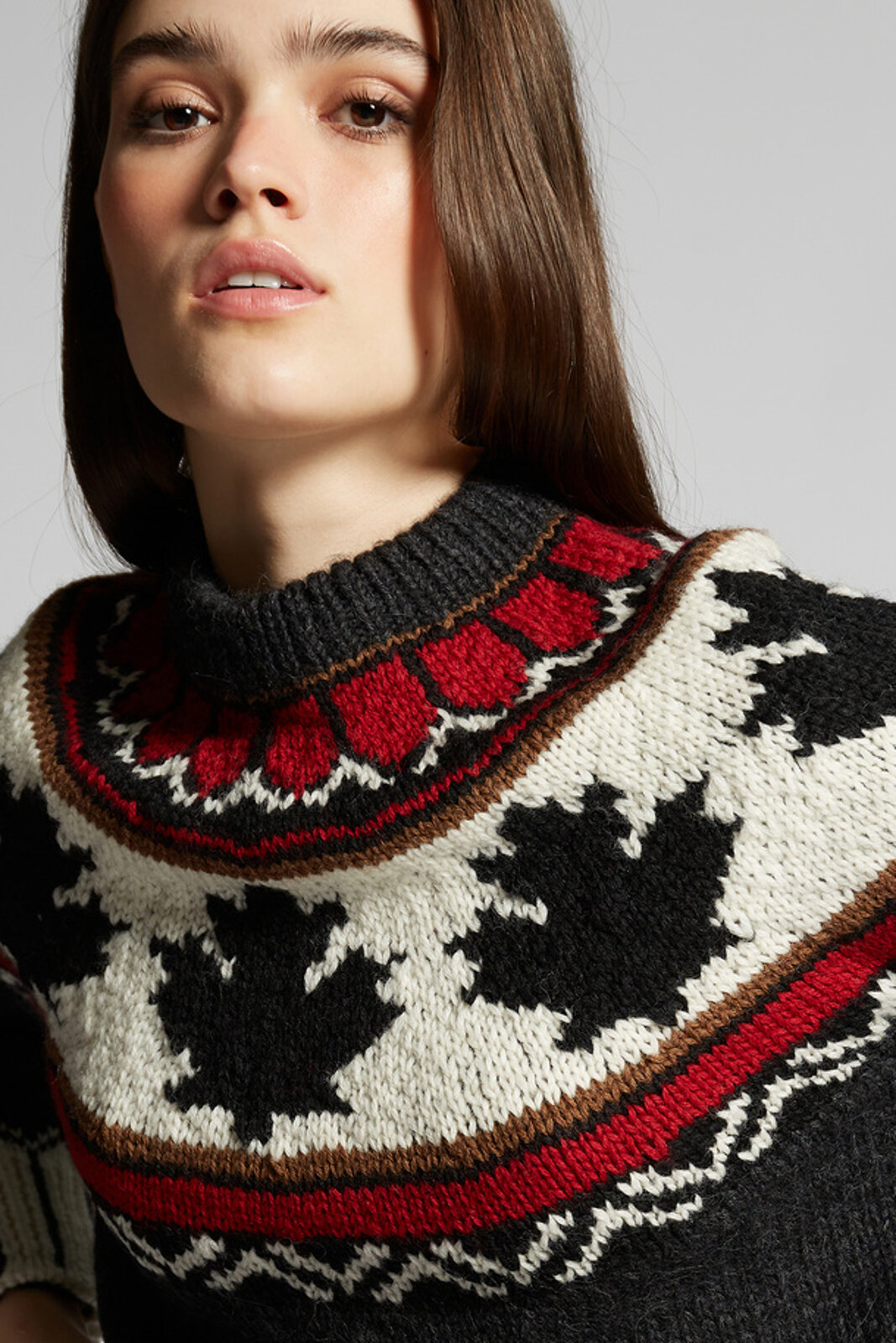 Wool Patterned Knit Sweater - Dsquared2