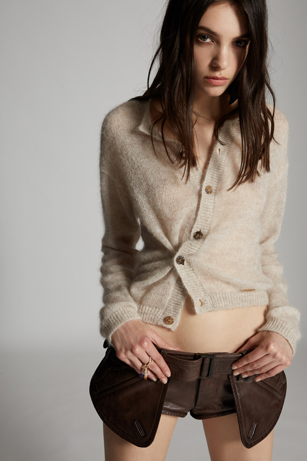 Mohair Wool Cardigan - Dsquared2