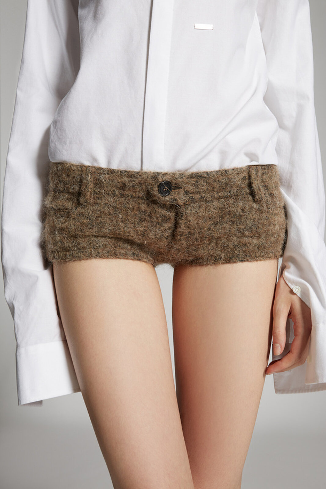 Hot pants militari in lana di alpaca - Dsquared2