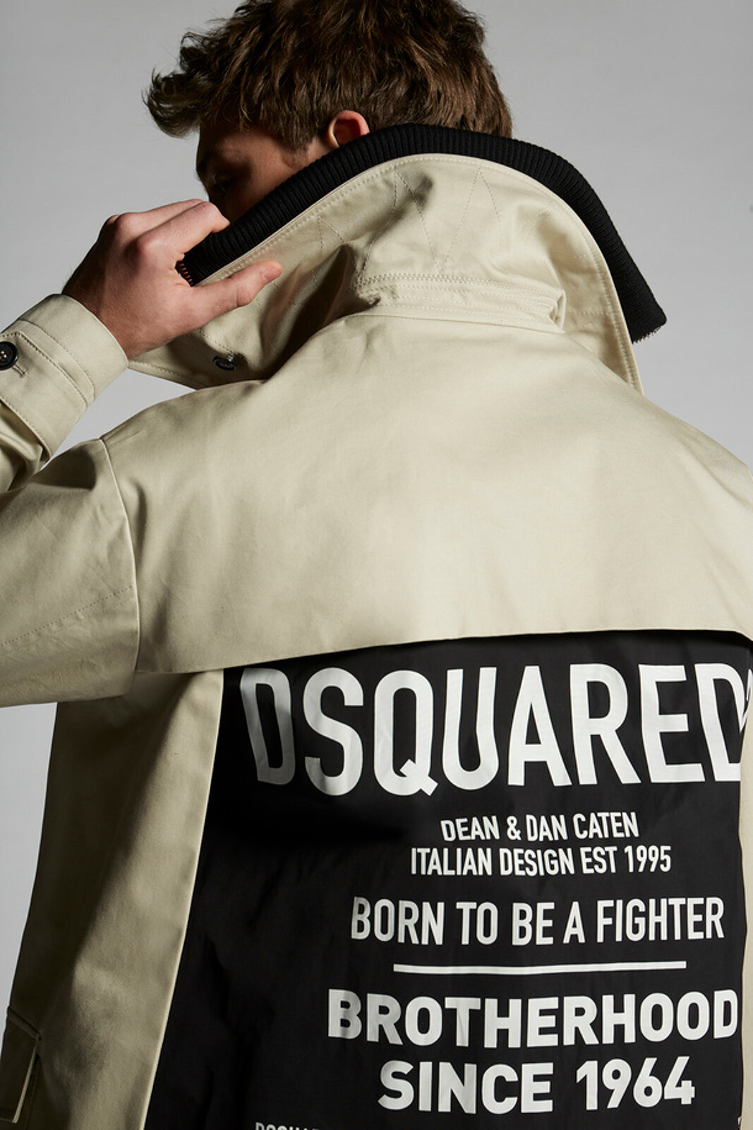 Hybrid Stretch Cotton Trench Coat - Dsquared2