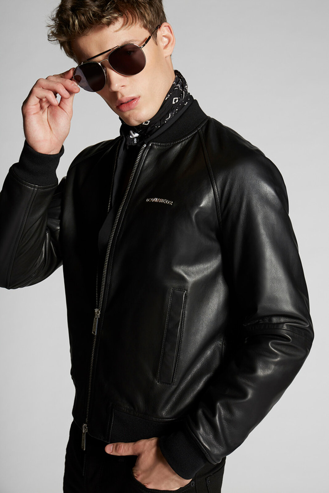 Track Bomber Giacca di pelle - Dsquared2