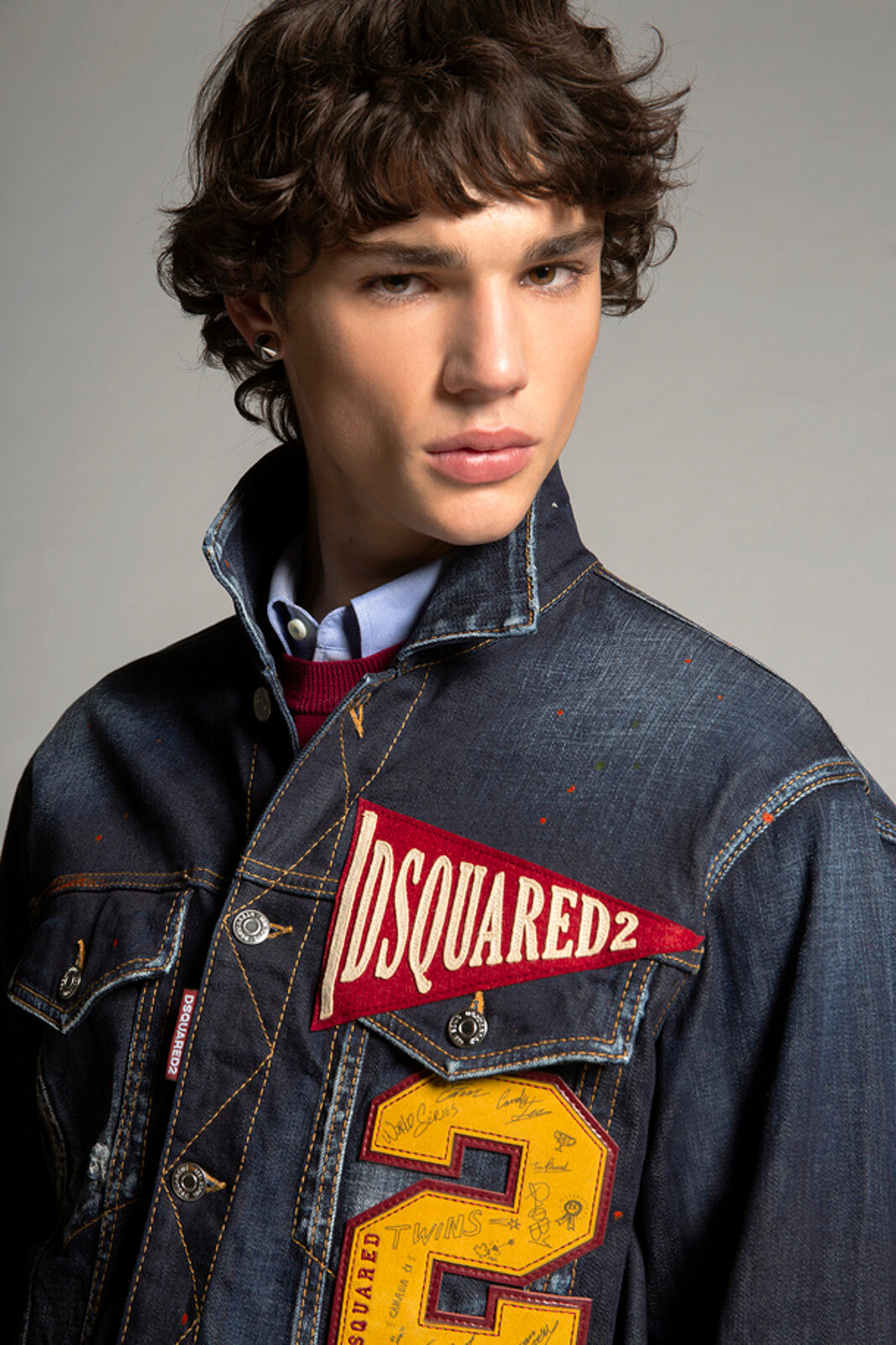 Giacca in denim D2 College Patch - Dsquared2