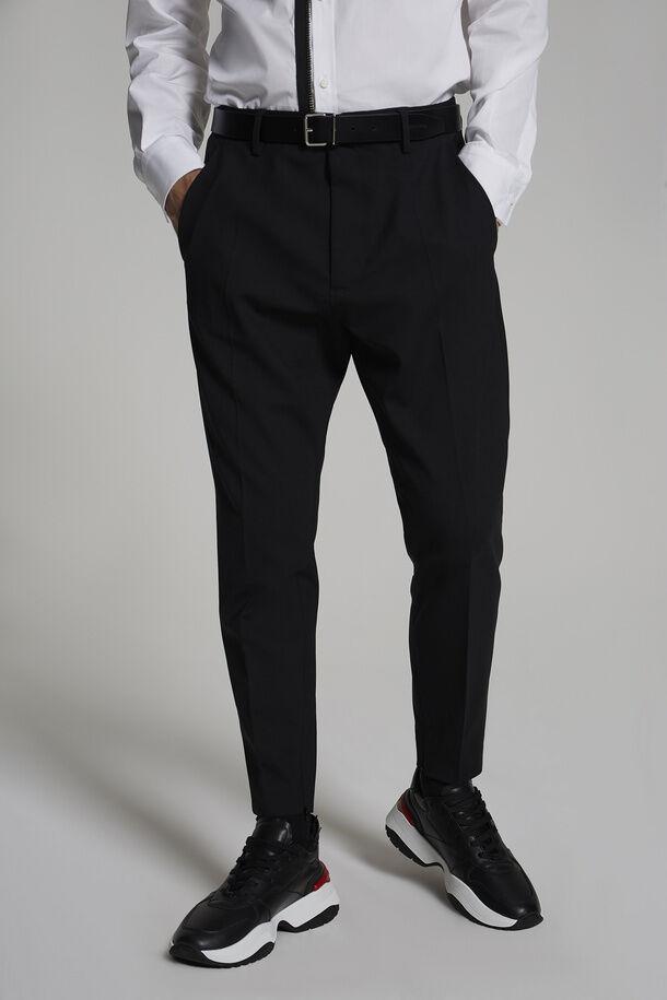 Pantaloni Techno Skinny In Lana Stretch Tropicale - Dsquared2