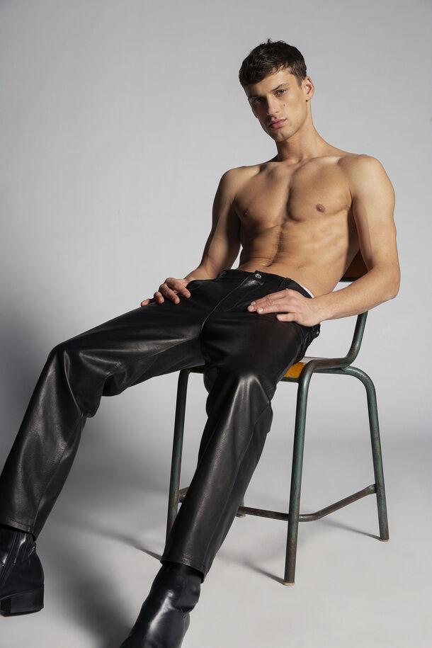Pantaloni Brad in pelle - Dsquared2
