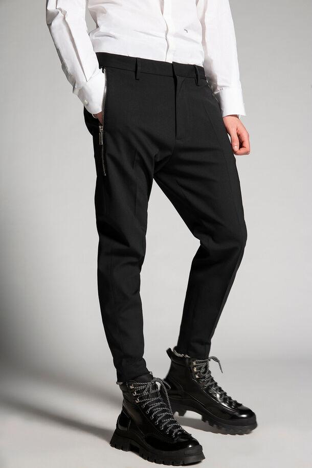 Pantaloni Dan in Techno Skinny in lana stretch tropicale - Dsquared2