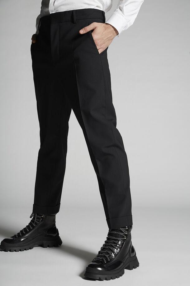 Pantaloni Brad in lana elasticizzata tropicale - Dsquared2