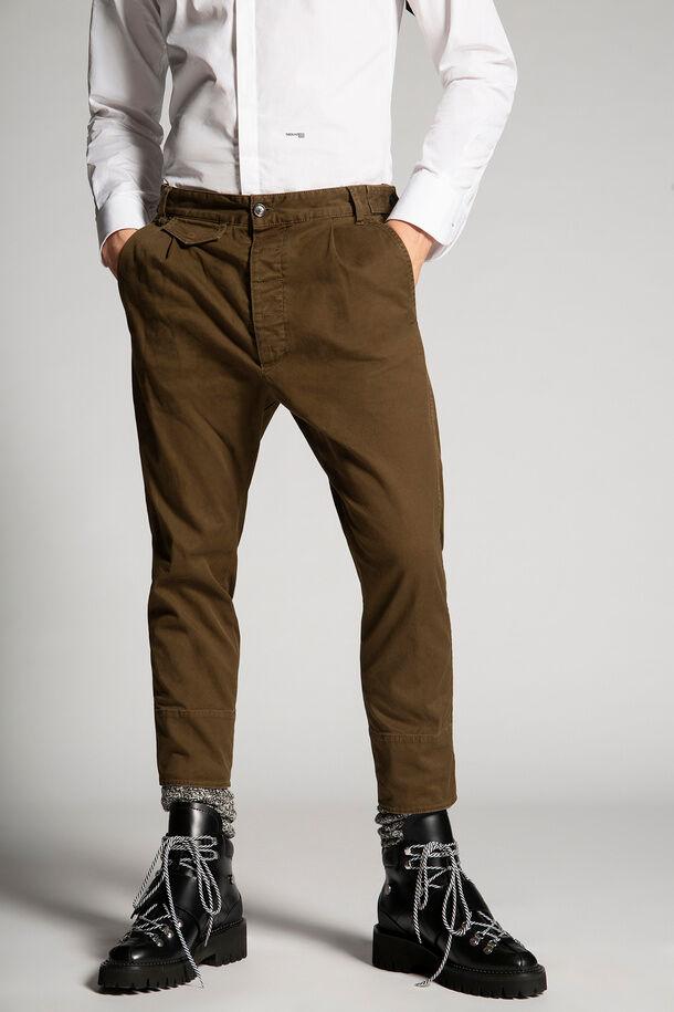 Pantaloni aviatore in twill di cotone - Dsquared2