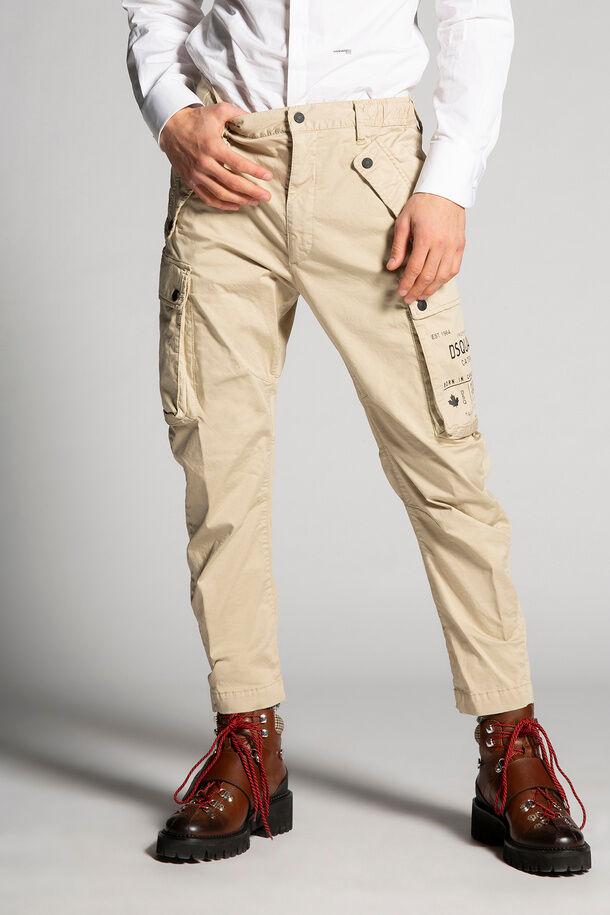Pantaloni cargo sportivi in cotone - Dsquared2