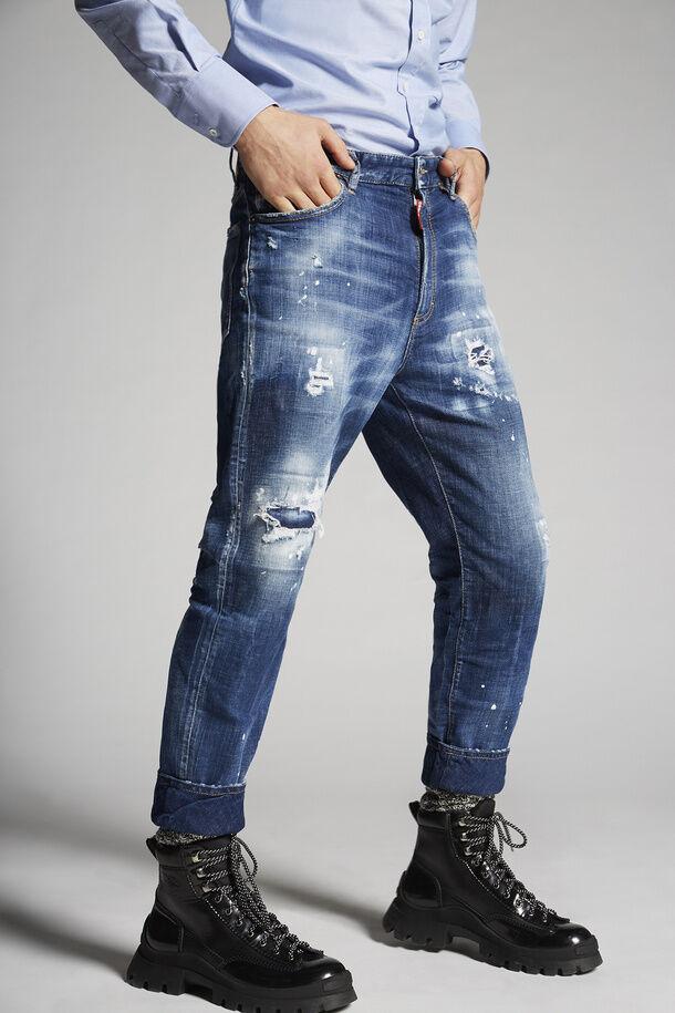 Holy Dark Wash Brad Jeans - Dsquared2