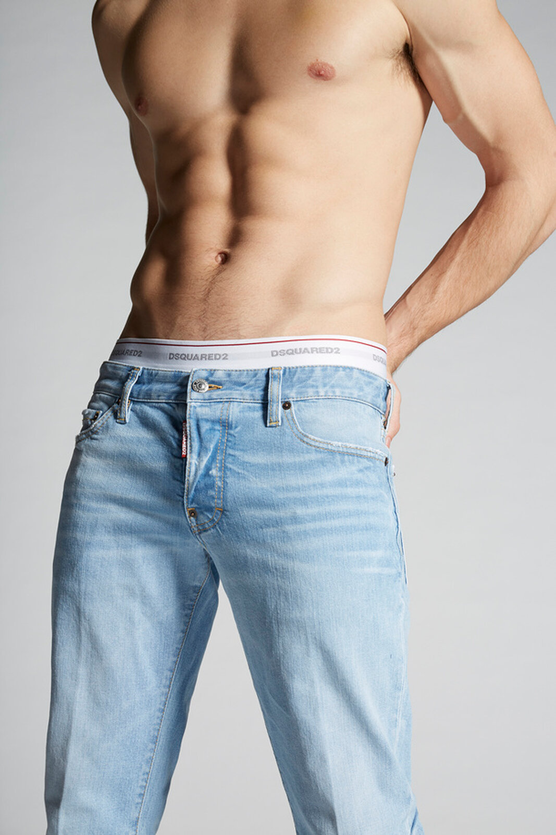 Light Caten Bros. Wash Slim Jeans - Dsquared2