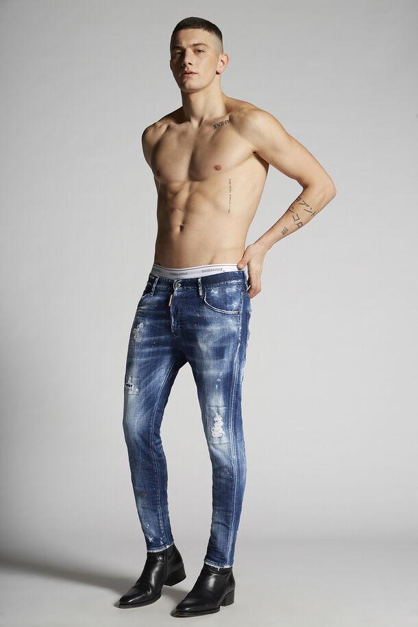 Medium Orange Country Wash Skinny Dan Jeans - Dsquared2