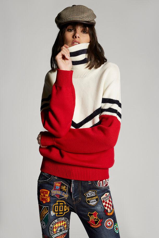 Wool Turtleneck Sweater - Dsquared2