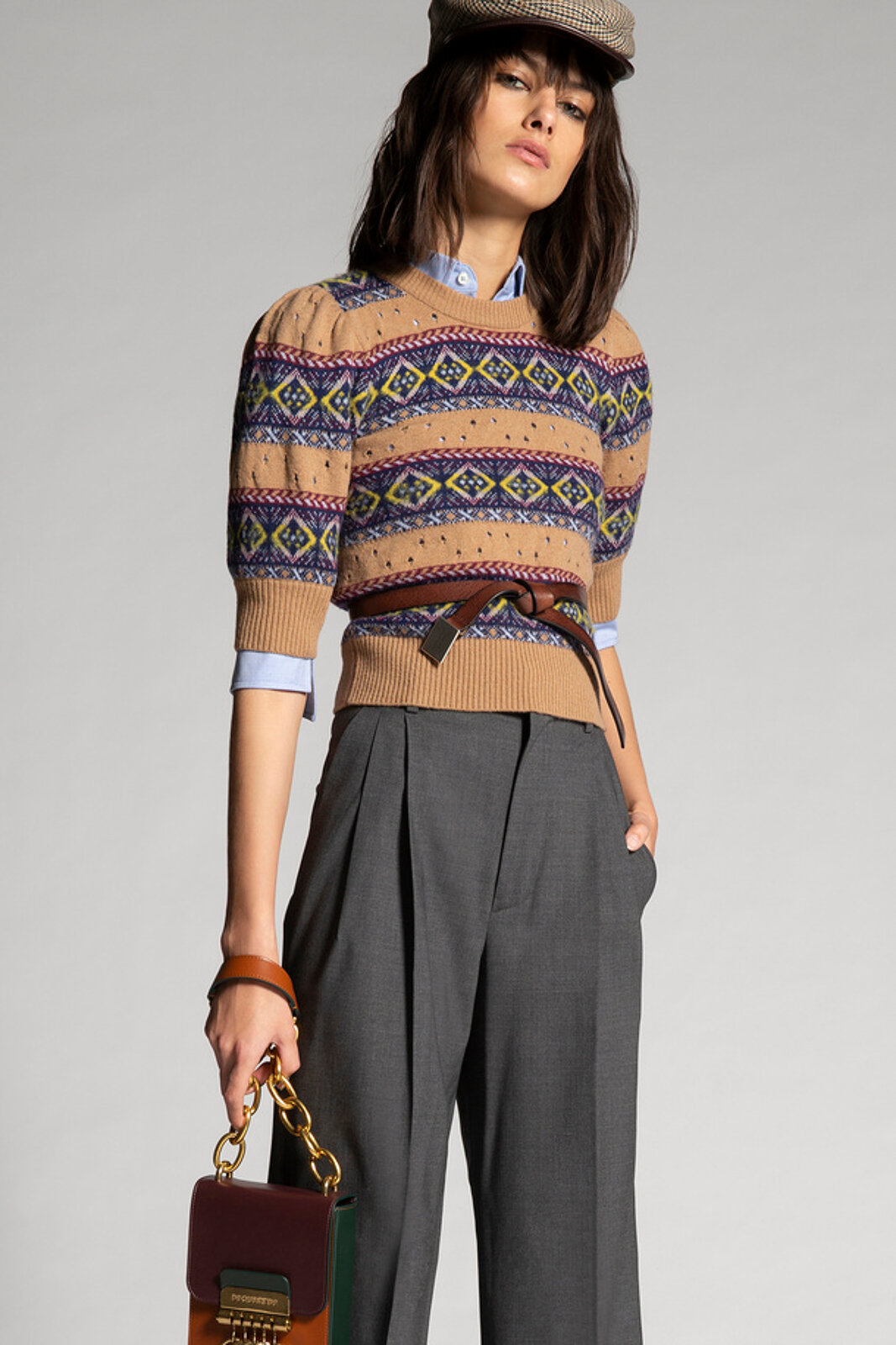 Patterned Cashmere Wool Knit Sweater - Dsquared2