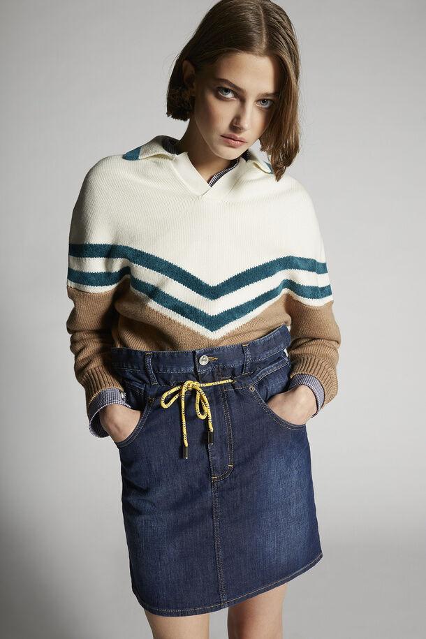 Multi Color Polo Knit Sweater - Dsquared2