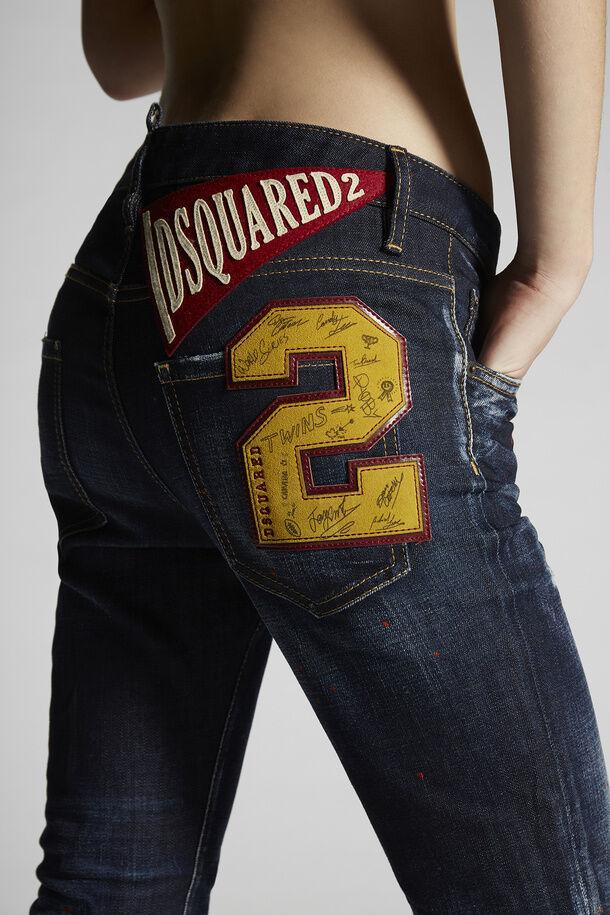 Le macchie rosse della notte scura lavano i jeans tagliati Cool Girl - Dsquared2