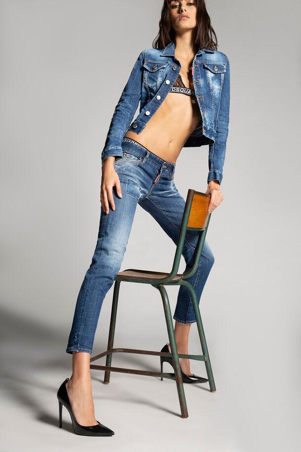 Jeans cool girl lavaggio country arancione medio - Dsquared2